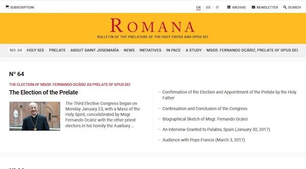 Opus Dei - New Romana Website