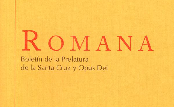 """Nº 58 de """"Romana"""", boletín de la Prelatura"""