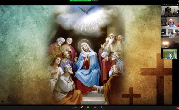 Familjer förenas i bön - via Zoom