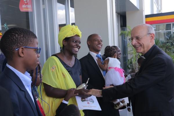 The Father arrives in Uganda