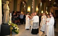 El Obispo bendice una imagen de San Josemaría Escrivá en Cartagena