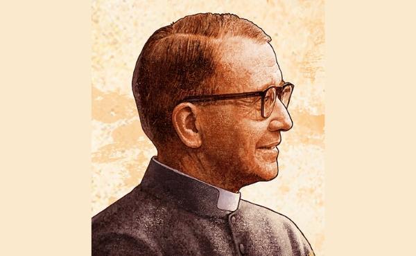 """São Josemaria em uma """"procissão de santos"""" em uma paróquia de Roma"""