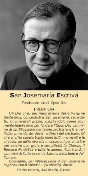 Preghiera per l'intercessione di san Josemaría