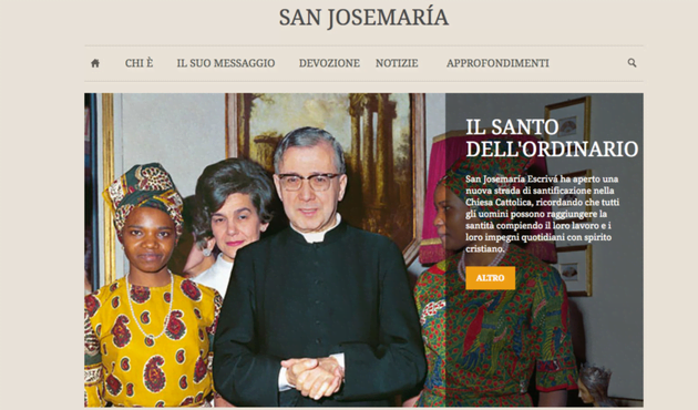 Opus Dei - La pagina web di san Josemaría si fonde con www.opusdei.org