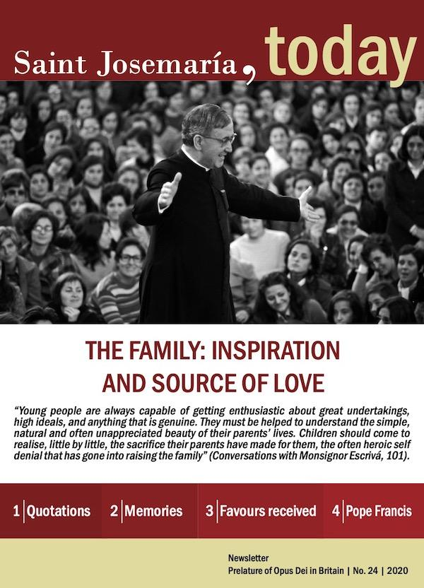 St Josemaria: Newsletter No. 24: On the Family