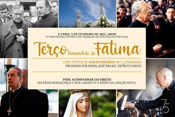 Quer juntar-se online ao Terço de Fátima nos 75 anos do Opus Dei em Portugal?