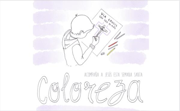 """""""Coloreza"""": el Via Crucis para niños"""