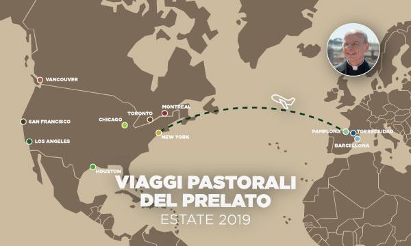 I prossimi viaggi pastorali del prelato