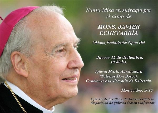 Opus Dei - Misa en Montevideo en sufragio por el Prelado fallecido