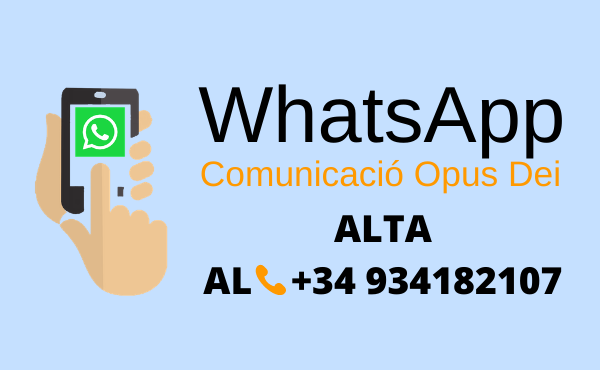Opus Dei -  Obrim un canal de WhatsApp