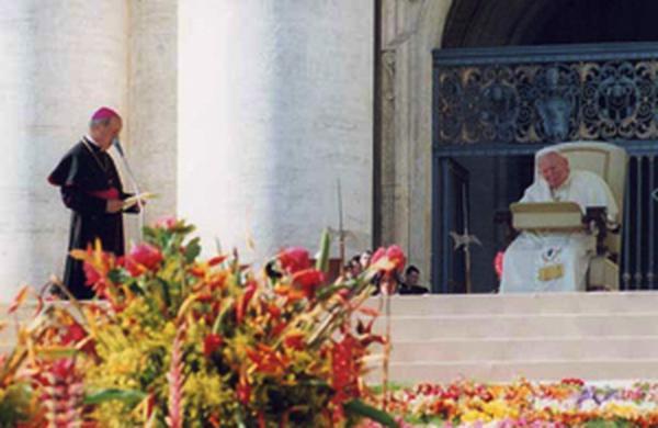 Grußwort des Prälaten des Opus Dei an den Papst. 7. Oktober 2002