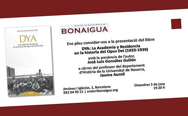 Presentació del llibre de l'acadèmia DYA a Barcelona