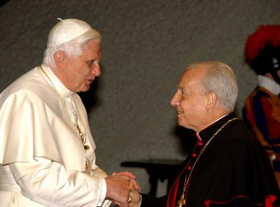 Con Benedicto XVI.