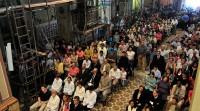 A reforma da basílica não impediu que houvesse um clima de oração e de recolhimento.