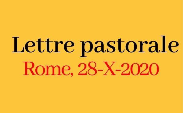 Lettre du Prélat (28 octobre 2020)