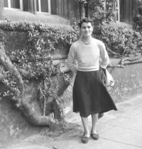 Maruchi Esteban, Assistant Numerary, outside The Cottage in 1958
