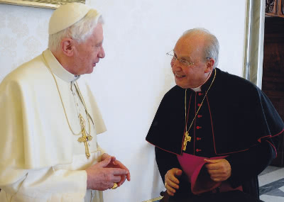 The Prelate, in a recent audience with Benedict XVI.