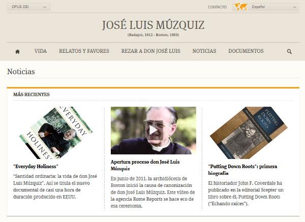 Página de don José Luis Múzquiz