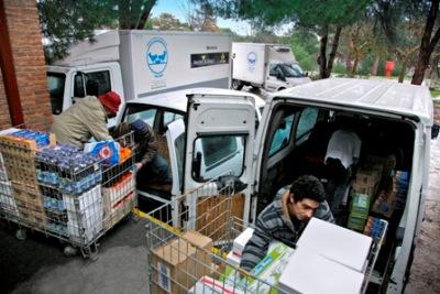El Banco de Alimentos de Madrid repartió, el año pasado, once millones de kilos de alimentos a más de 400 entidades benéficas.