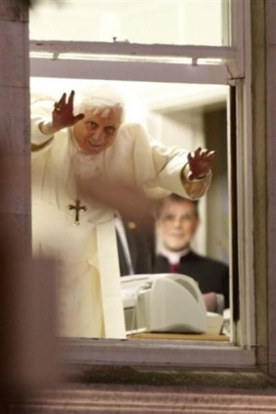 El Santo Padre durante su visita al Reino Unido.