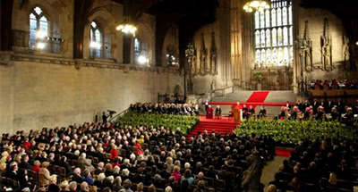 Benedicto XVI en Westminster Hall