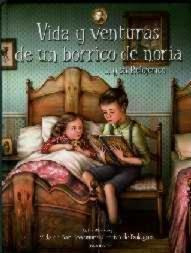 Okładka hiszpańskiej książki 'Życie i przygody osiołka w kieracie... i jego Zegarmistrza'