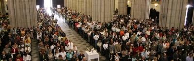 Imagen de la misa celebrada este año en la catedral de Sao Paulo en la festividad de san Josemaría.