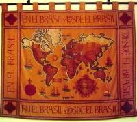 Este tapiz muestra el deseo de los brasileños de contribuir a la cristianización del mundo.