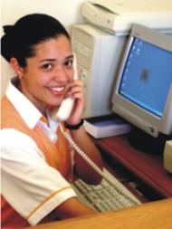 Estudiante del Centro de Capacitação Profissional dos Pinhais.