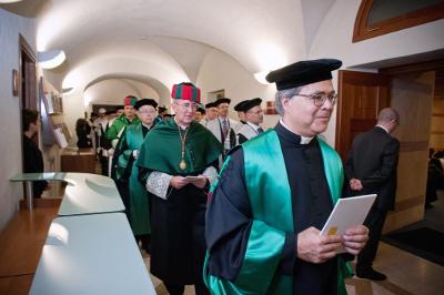 Profesores de la Facultad de Derecho Canónico.