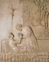 Relieve de la Capilla de San Josemaría en la Catedral de la Almudena (Madrid)