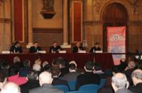 Vista general de la sala d'actes del Seminari Conciliar de Barcelona.