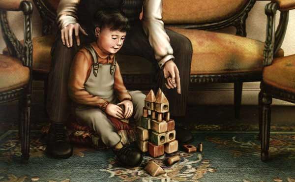 E no final, que cara a do menino, um castelo!