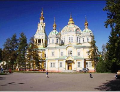 Almaty city Voznesensky cathedral