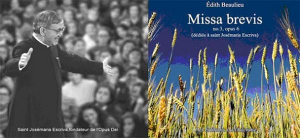 Nova composição de música sacra em honra de S. Josemaria