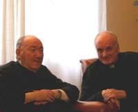 Don Francesco con don Mario Lantini, 2007.
