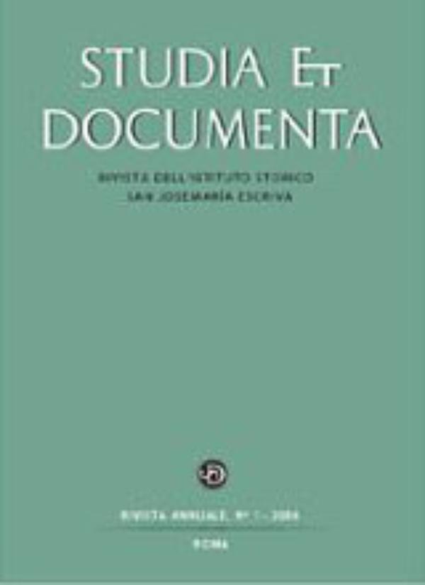 Primera revista histórica sobre el Opus Dei y su fundador
