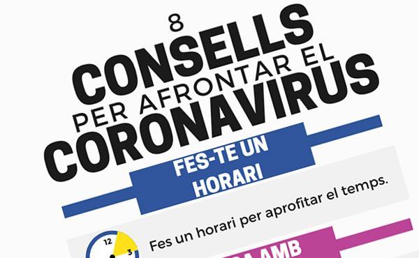 Alguns consells per afrontar el coronavirus