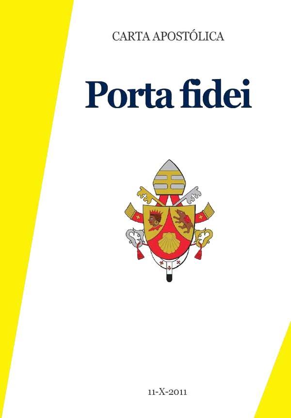 "Opus Dei - ""A porta da fé"": Carta de Bento XVI"