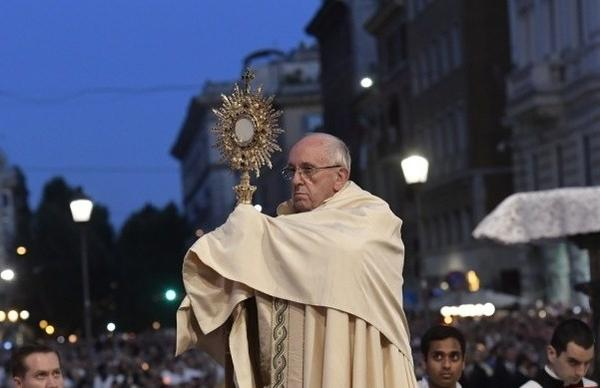 Angelus Address on Feast of Corpus Christi
