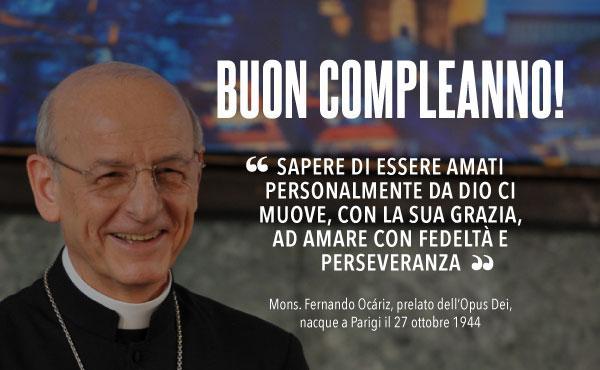 Compleanno del prelato dell'Opus Dei