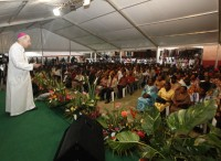 Lors d'une réunion à Abdijan le mois de juillet 2011