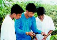 Expertos del sector agrícola transmiten su experiencia a los alumnos.