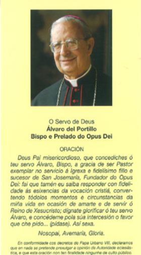 Pregar a Mons. Álvaro del Portillo
