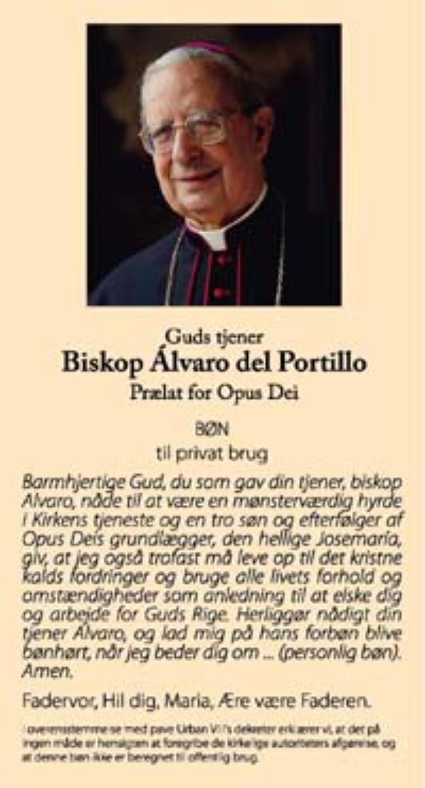 Bede Biskop Alvaro om forbøn