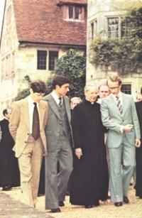 Mgr Alvaro del Portillo in Wickenden Manor, Sussex, in 1980