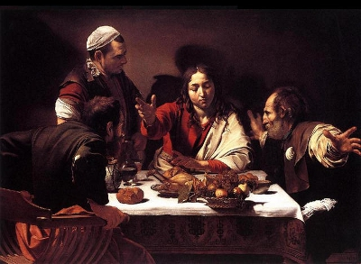 Les disciples d'Emmaus. Caravage