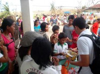 PAREF Westbridge School students quick response to typhoon Yolanda victims north of Iloilo.
