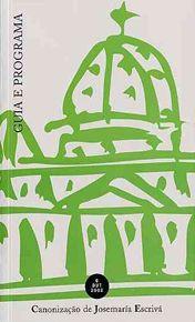 Guida del 6 ottobre, in portoghese, che verrà distribuita ai partecipanti alla canonizzazione.