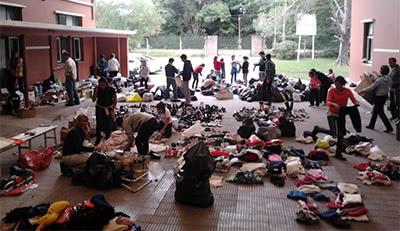 Donaciones en el colegio